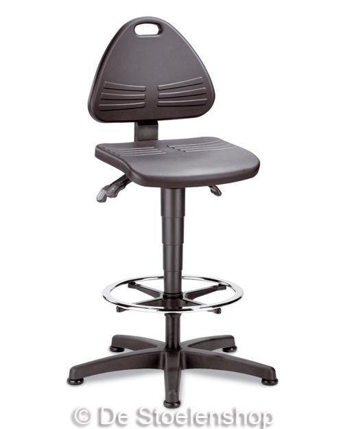 Werkplaatsstoel Bimos Isitec 3 met glijders + voetenring Pur