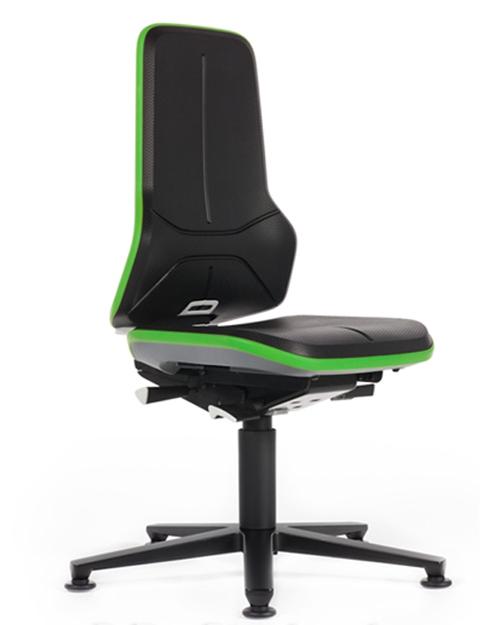 Werkplaatsstoel Bimos Neon 1 permanentcontact met glijders