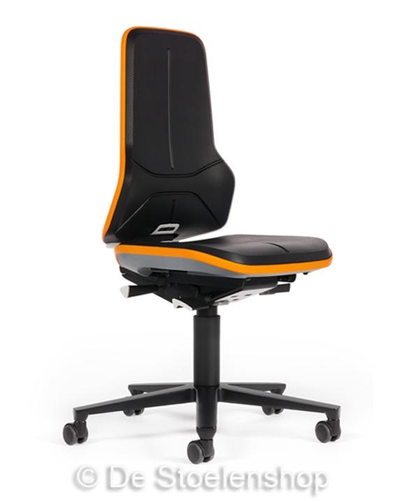 Werkplaatsstoel Bimos Neon 2 synchroontechniek met wielen