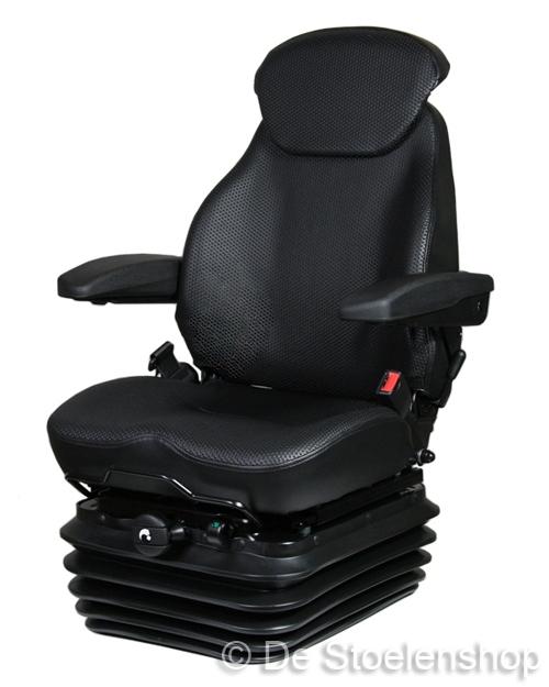 KAB mechanisch geveerde stoel 83/E1  PVC zwart geperforeerd