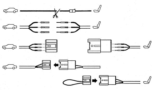 Airbagkabel universeel/afkoppelstekker side-airbag standaard