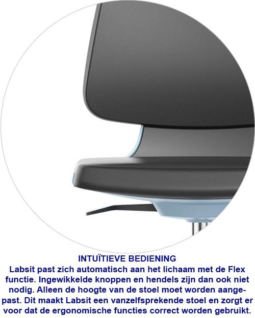 Bimos ESD Labsit 4 met zit-stop wielen en voetenring
