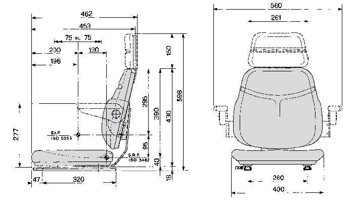 Bovendeel / Topper Cobo SC74 PVC met verstelrails / 40 cm