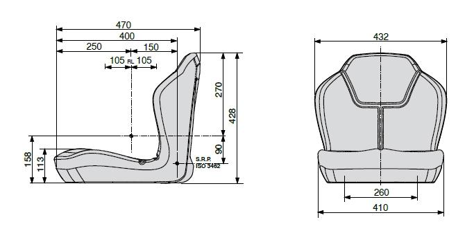 Cobo kuip PS40 PVC met gordel, schakelaar en verstelrail
