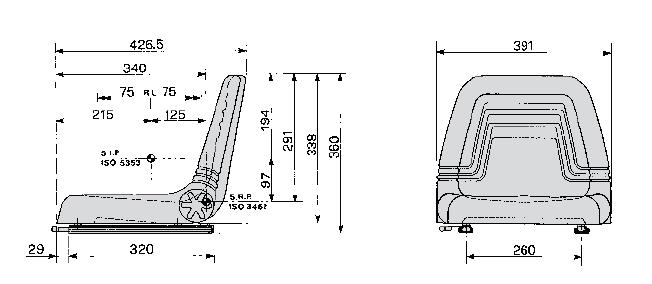 Cobo kuip SP10 PUR met langsverstelling