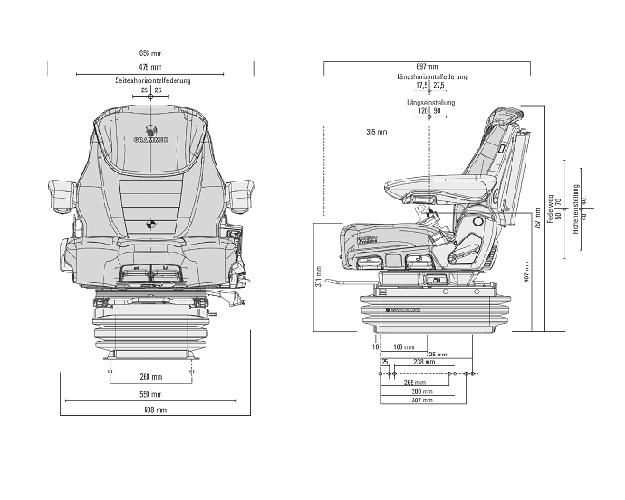 Grammer luchtgeveerde stoel Maximo Evolution Dynamic