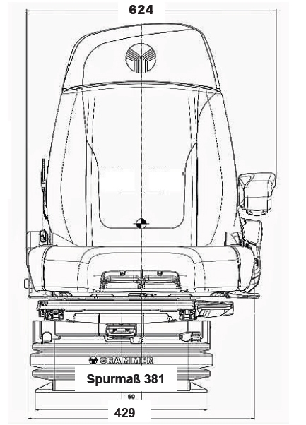 Grammer luchtgeveerde stoel Maximo XT Dynamic Plus