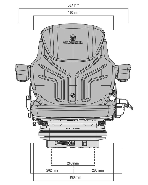 Grammer Maximo M mechanisch geveerde stoel stof of PVC