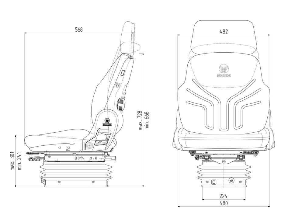 Grammer tractorstoel Compacto Comfort W | stof AGRI