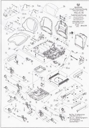 Heftruckstoel Grammer Primo M - MSG65/521 stof bz