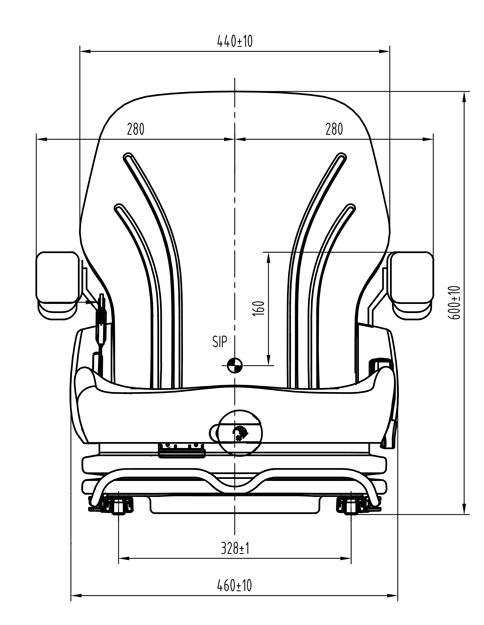 Heftruckstoel US MGV35G PVC met stoelschakelaar