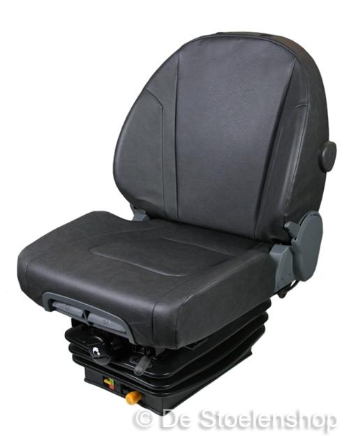KAB11/K6 mechanisch geveerde trekkerstoel, PVC grijs