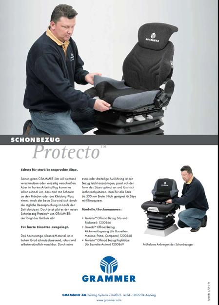 Overtrekhoes in kunstleder voor Grammer Maximo 550 mm. breed