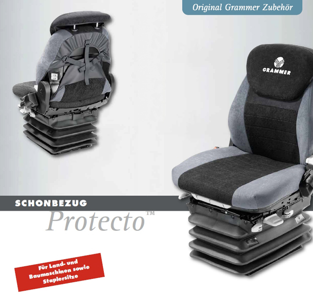 Overtrekhoes in kunstleder voor Grammer Primo MSG65-75/521