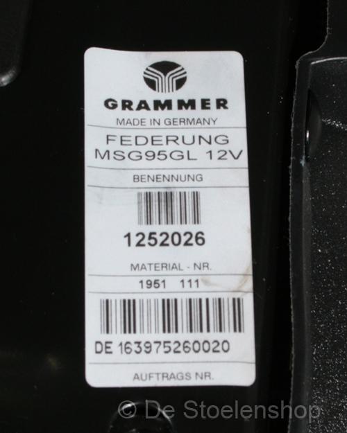 Veersysteem luchtgev. Grammer MSG95GL met CNH stekker