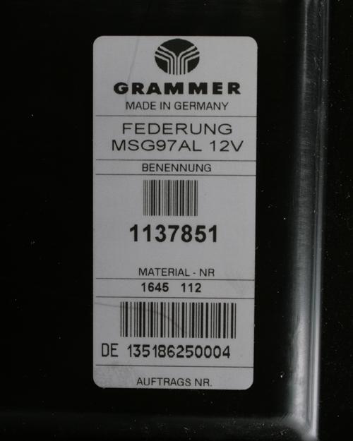 Veersysteem luchtgeveerd Grammer MSG97AL 12 V
