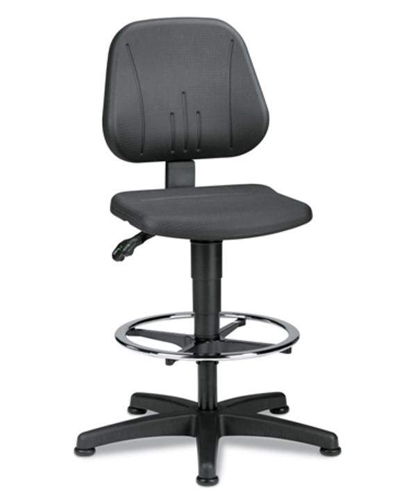 Werkplaatsstoel Bimos Unitec 3 met glijders en voetenring