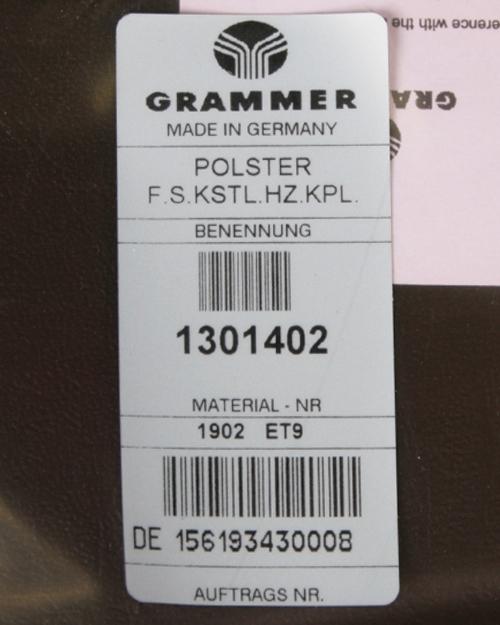 Zitkussen Grammer MSG65/531 en MSG75/531 PVC met verwarming