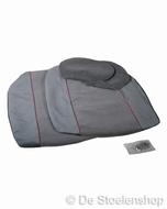 Universele stoelhoesset voor autostoel stof grijs /rode bies