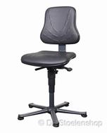 Werkplaatsstoel Bimos Solitec 1 kunstleer zwart met glijders