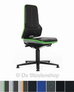 Werkplaatsstoel Bimos Neon 1 synchroontechniek met glijders
