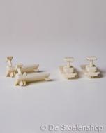 Zitblikgeleiders tbv ISRI stoelen (set 4 stuks)