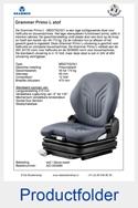 AG1293488 Grammer Primo L MSG75-521 stof blauw-zwart luchtgeveerd