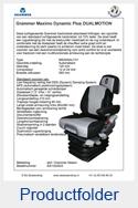 AG1323523 Grammer Maximo Dynamic Plus DUALMOTION stof Grammer Dessin luchtgeveerd MSG95AL-741