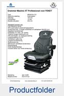 Folder AG1314123 Grammer Maximo XT Professional stof AGRI