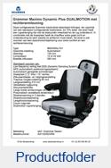 AG1323523RA Grammer Maximo Dynamic Plus DUALMOTION met rechterarmleuning stof Grammer Dessin luchtgeveerd MSG95AL-741