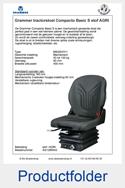 Productfolder AG1289042 Grammer Compacto Basic S stof AGRI mechanisch MSG83-511