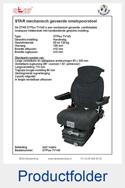 Folder STPlusTV140 STAR smalspoorstoel met in lengte verstelbaar zitkussen stof matrix mechanisch