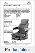 AG1291749 Grammer Primo Professional M MSG75GL-521 stof AGRI of PVC luchtgeveerd