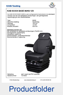 Folder T215930 KAB SCIOX BASE 12V stof zwart met PVC zijranden