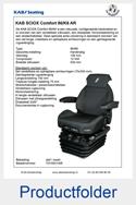 T215931AR KAB SCIOX Comfort met armleuningen en rugverlenging 12V luchtgeveerd 86-K6
