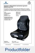 A52025-AG135671 Grammer MSG20 smal-41cm PVC mechanisch geveerde heftruckstoel