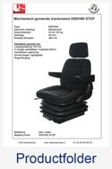 Productfolder E85H90 stof United Seats tractorstoel