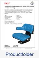 MS54017BL STAR voor schuine en vlakke montage PVC blauw mechanisch MS44-2