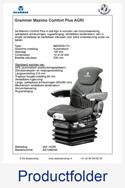 AG1288546 Grammer Maximo Comfort Plus stof AGRI luchtgeveerd MSG95A-731
