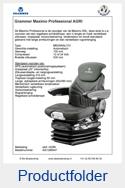 AG1288547 Grammer Maximo Professional stof AGRI luchtgeveerd MSG95AL-731